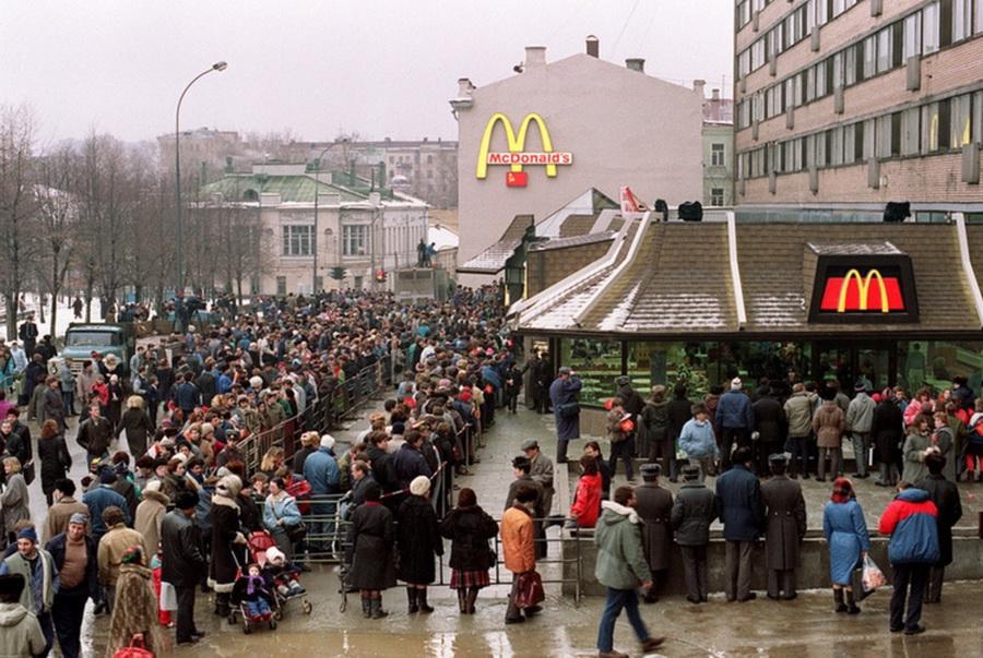 Очередь Макдоналдс СССР