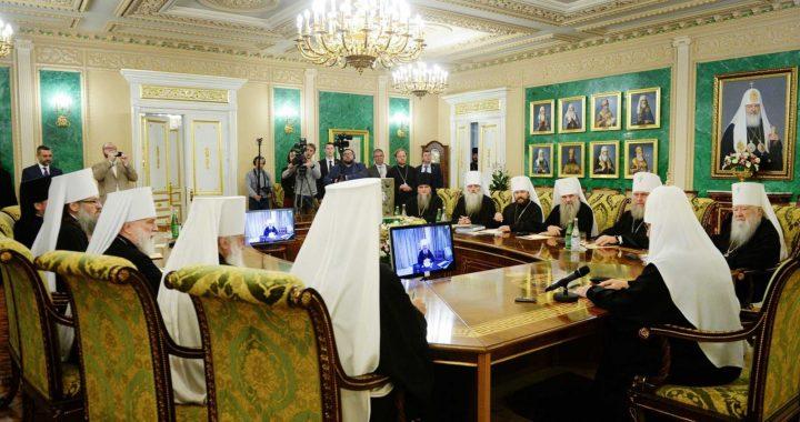 Внеочередное заседание Священного синода РПЦ