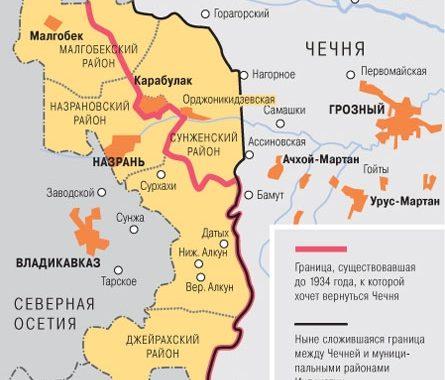 Кадыров обосновал территориальные претензии к Ингушетии