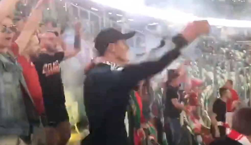 Белорусский шовинизм в отношении русских на футбольном матче в Минске
