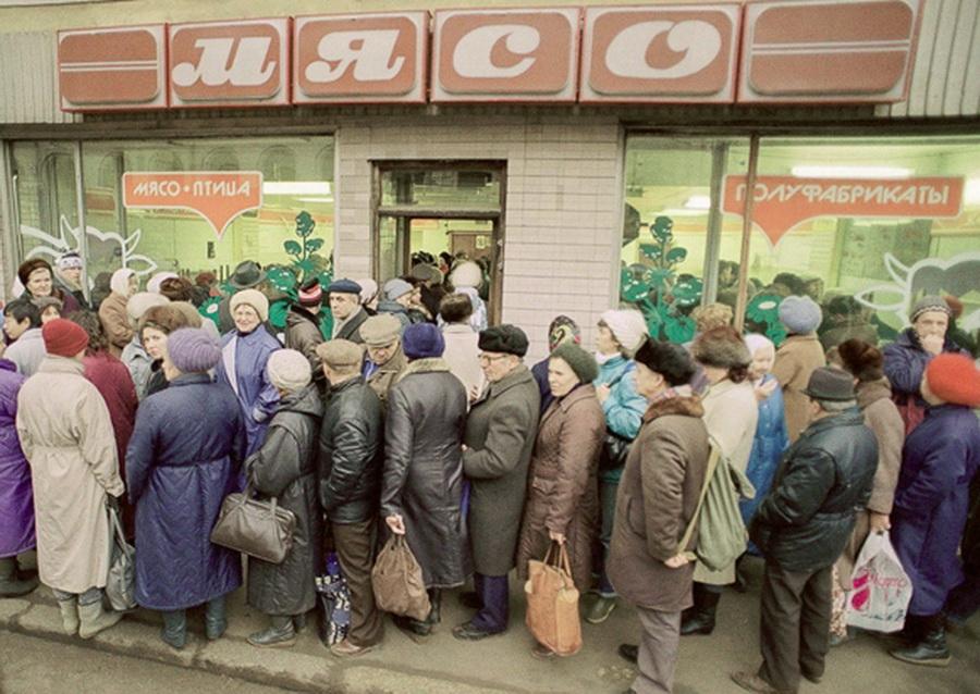 СССР очередь за мясом