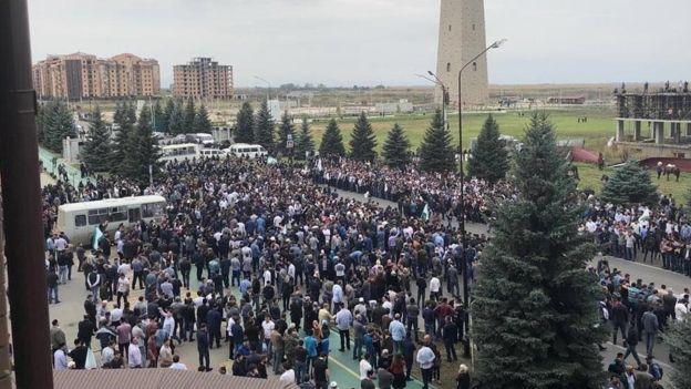 Протесты в Ингушетии со стрельбой