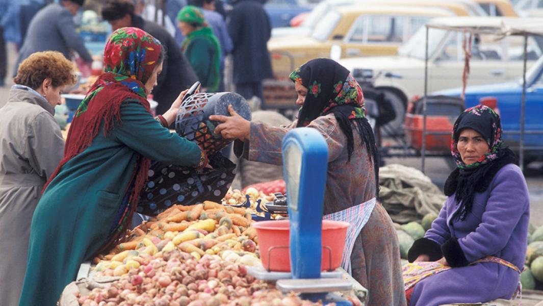 Рынок в городе Байрам-Али
