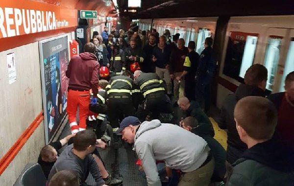 Болельщики ЦСКА после аварии эскалатора в Риме