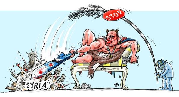 Путин и Сирия карикатура