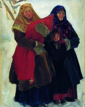 Бабы. Этюд к картине Базар в деревне, 1902 Национальный музей изобразительных искусств имени Гапара Айтиева, Бишкек