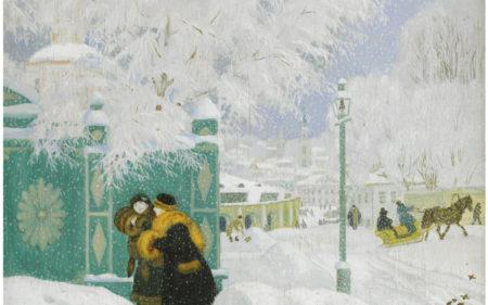 Зимний пейзаж, 1919 год