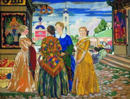 У витрины, 1921 год. Национальный музей изобразительных искусств имени Гапара Айтиева, Бишкек