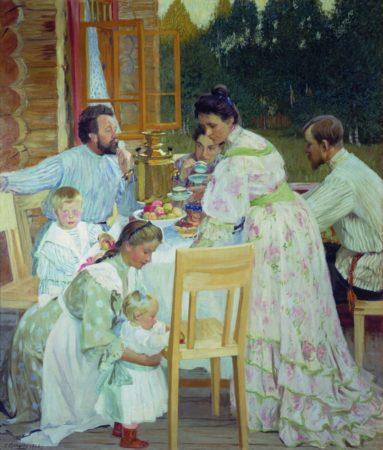 На террасе, 1906 год. Нижегородский государственный художественный музей, Нижний Новгород