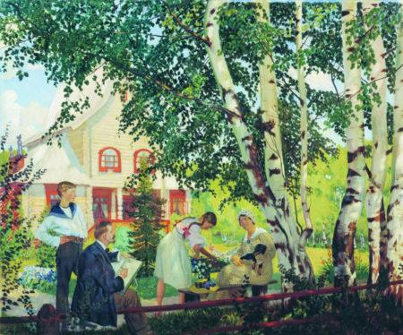 В Тереме (Мой дом), 1910 год. Национальный художественный музей Республики Беларуссия, Минск