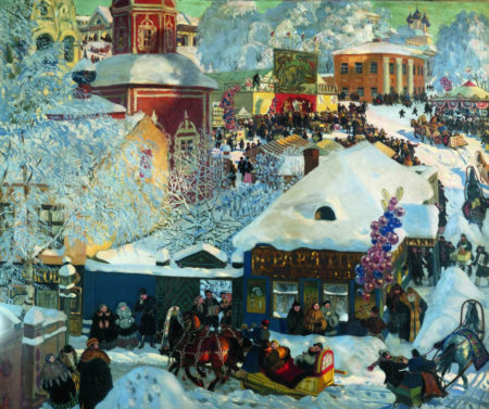 Зима. Масленичное гулянье, 1918 год. Владелец Государственный Русский музей, Санкт-Петербург
