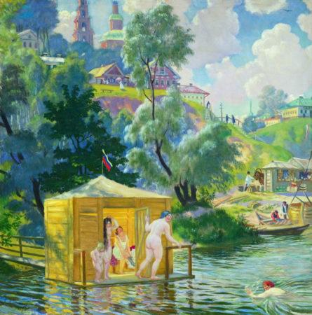 Купанье, 1921 год. Частная коллекция.