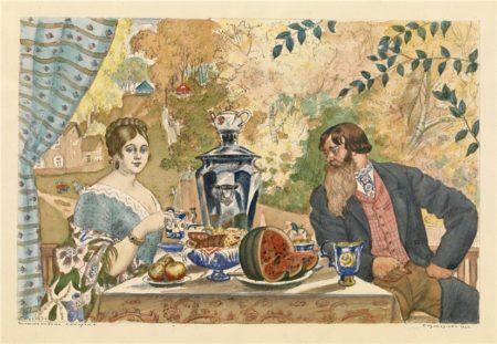 Купец и Купчиха, 1922 год. Частная коллекция