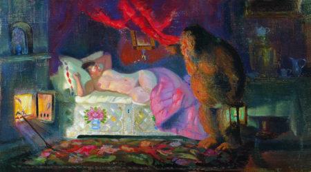 Купчиха и домовой, 1922 год. Частная коллекция.