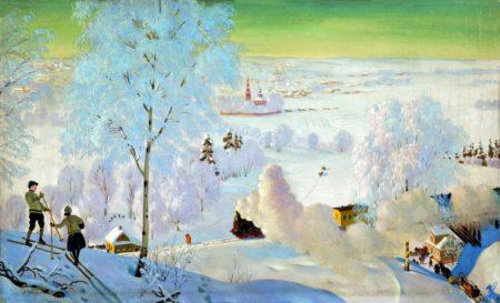 Лыжники, 1919 год. Частная коллекция.