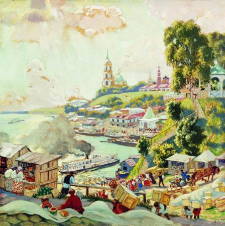 На Волге, 1910 год Частная коллекция