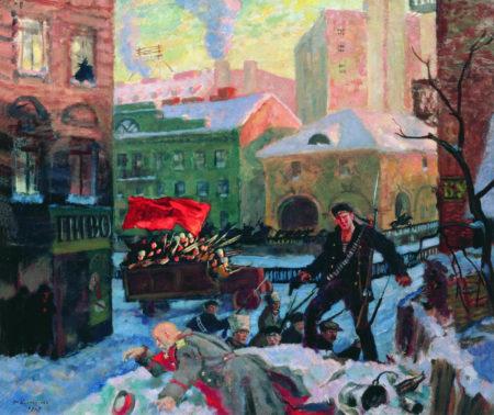 Октябрь в Петрограде, 1927 год. Государственная Третьяковская галерея, Москва