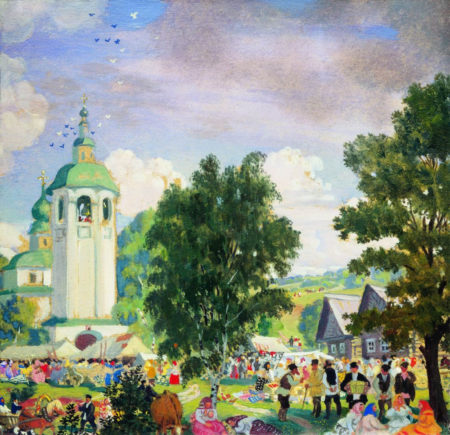 Сельский праздник. Эскиз Борис Михайлович Кустодиев 1919
