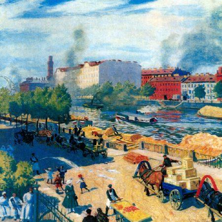 Фонтанка у Калинкина моста, 1916 год