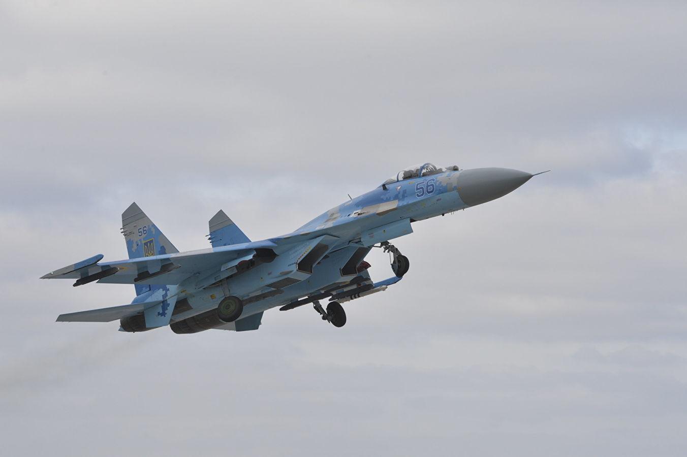 На Украине разбился военный самолёт Су-27