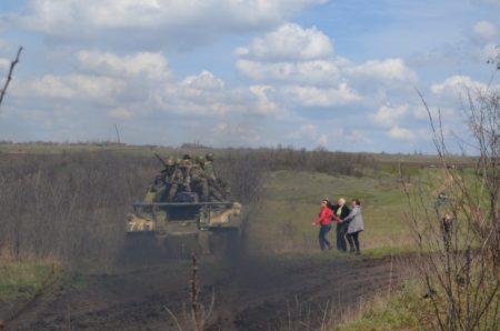 Атака украинской армии на мирных жителей