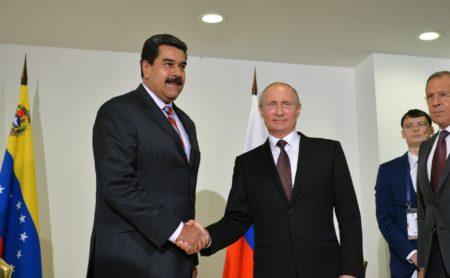 Владимир Путин с Президентом Боливарианской Республики Венесуэла Николасом Мадуро