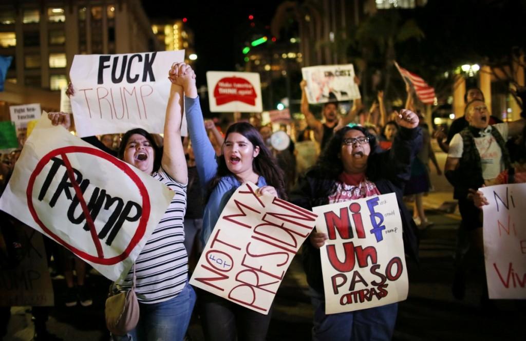 Протест против Трампа