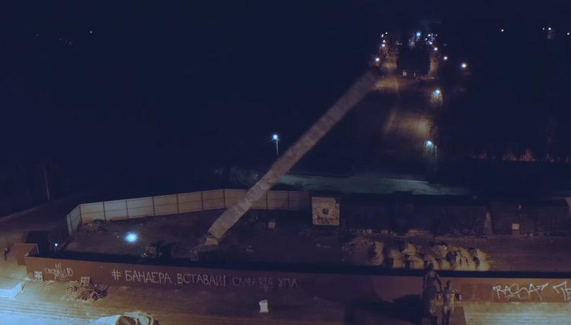 Уничтожение Монумента Славы во Львове