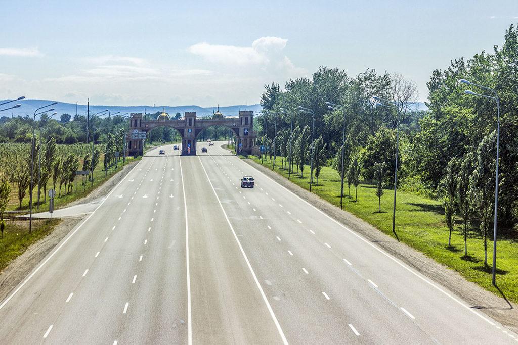 Дорога в Чечне