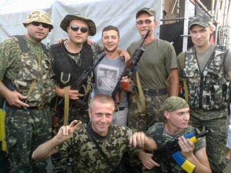Зеленский с солдатами армии Украины