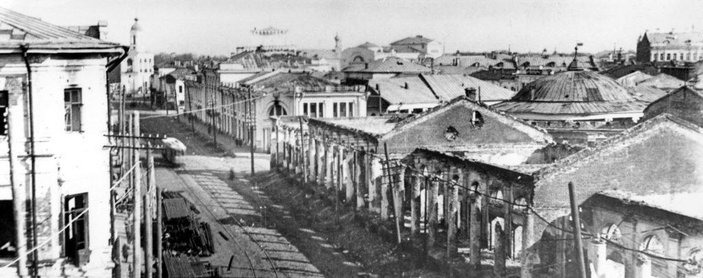 Вид на улицу Линия Социализма (ныне Комсомольская)